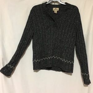 Cozy, charcoal colored, WOOLRICH sz S sweater